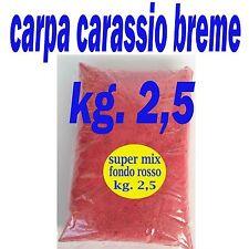PASTURA DA CARPA TINCA CARASSIO FONDO ROSSA KG 2,5 PESCA LAGO FIUME INNESCO