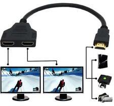 Hdmi mâle à 2 HDMI femelle HD 1080 P 1 à 2 sur Splitter câble adaptateur