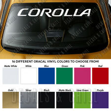TOYOTA COROLLA Windshield Banner Long Lasting Vinyl Premium Decal Sticker 40""