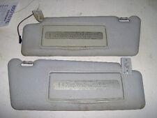 1996 MERCEDES E CLASS E320 SUN VISOR HOMELINK POWER PAIR SET LIGHT GRAY MIRRORS