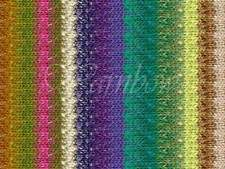NORO ::Taiyo #57:: cotton silk wool yarn Yellow-Green-Purple-White-Pea-Pink-Nut