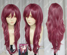 AKB0048 Kashiwagi Yuki Yukirin Purplish Red Lolita Cosplay Party Wig