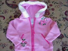 *NWT* Toddler Girls Soft Fleece Floral  Zip Hoodie 18 m