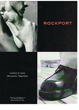 PUBLICITE ADVERTISING  2001    ROCKPORT  chaussures
