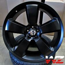 "22"" SRT8 Style Wheels Satin Black Rims Fits Dodge Magnum Charger Challenger 300"