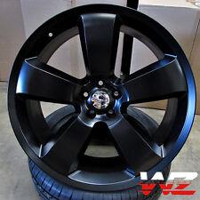 "22"" SRT8 Style Wheels Satin Black Rims Fits Dodge Magnum Charger Challenger 300"