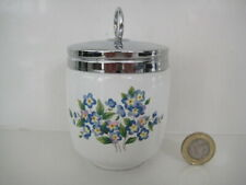 RARE SEVERN WARE Ltd ROYAL WORCESTER KING DOUBLE SIZE EGG CODDLER FORGET-ME-NOT