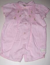 STACY CLAIRE BOYD~Light Pink Short-sleeve Short-all/Outfit~GIRLS SIZE 3 Months