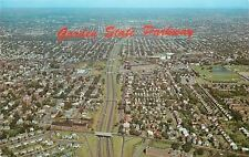 New Jersey~Aerial View: Garden State Parkway~Homes~Bridge~Over passes~1950s