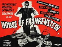 ADVERT MOVIE HOUSE OF FRANKENSTEIN KARLOFF HORROR CLASSIC USA PRINT BB4682A