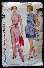 Vintage Original Simplicity 40's Slacks/Shorts/Shirt Pattern No. 3223