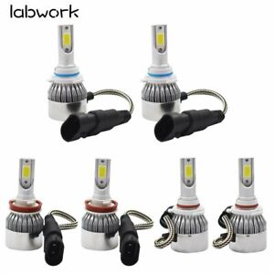 Combo LED Headlight Kit Hi Low Bulbs 6000K 9005 + H11 + 9006 3900W 585000LM