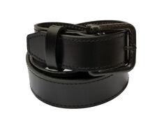"Metal free Leather belt w/ Carbon Fiber Buckle: Nickel Free: TSA: 48""- 52"""