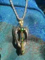 FREE SHIPPING Angel wings pendant the Violet Flame