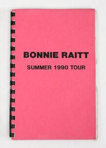 BONNIE RAITT Summer 1990 Concert Tour Crew Itinerary Book