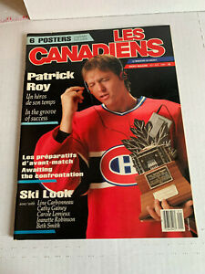 Les Canadiens Magazine Patrick Roy Oct./Nov. 1986 Rookie Year Montreal Canadiens