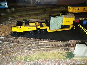 Ideal For Oo Gauge Model Railway Wimpey Low Loader With Load Unboxed