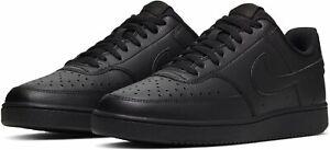 Nike Court Vision Lo Herren Sneaker Turnschuhe Freizeit Leder Classic schwarz