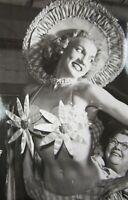 Vintage Pinup Bikini Girl Model Photo Costume Flower Top Cheesecake c. 1960's