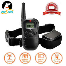 Waterproof Shock Vibra Training Collar for Small Med Large Dog Remote 330 Yard