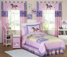 Jojo Discount Cheap Pink Western Horse Cow Girl Kids Twin Size Bedding Room Set