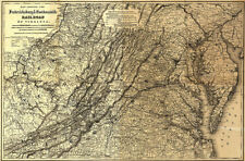 Map of Shenandoah Valley VA c1860s 36x24