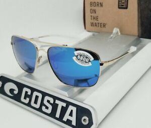 """580G - COSTA DEL MAR gold/blue mirror """"CANAVERAL"""" POLARIZED sunglasses! NEW!"""