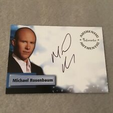 Michael Rosenbaum Signed Smallville Authentic Autograph Card Inkworks Rare A26