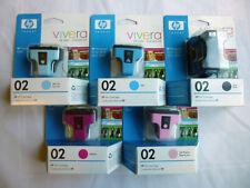 HP 02 Vivera GENUINE Ink Cartridges Black, Cyan, Magenta
