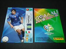 GENNARO GATTUSO ITALIA PANINI CARD FOOTBALL GERMANY 2006 WM FIFA WORLD CUP