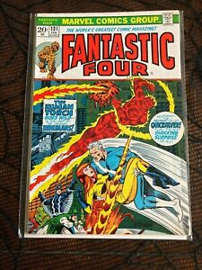 Fantastic Four #131 VF/NM 9.0, Inhumans, Steranko cover, shipping combined!