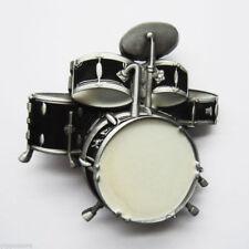Drums Drum Kit Black Music Rock & Roll Metal Fashion Belt Buckle