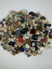 Lot Of Vintage Sewing Buttons - all designs, colors, shapes, sizes,etc 1lb