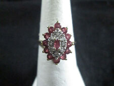 VINTAGE 10K RUBY RING SIZE 6.5