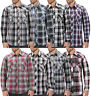 Men's Casual Western Button Down Pearl Snap Plaid Cowboy Long Sleeve Shirt
