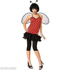NEW Women's Sexy Lady LOVE BUG Halloween Costume Dress & Wings size MEDIUM 10-12
