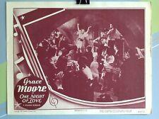 "MOORE, GRACE ""One Night Of Love"" Original Movie  LOBBY CARD 1949"