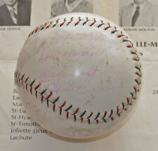 VERY RARE 1957-58 Season Montreal CANADIENS SIGNED Softball - 12 REAL AUTOGRAPHS