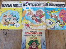 LOT 4 anciens BD livres les Pieds nickeles numéro 31 77 78 état moyen + IZNOGOUD
