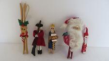 5 Christmas Handmade Clothes Pins Ornament