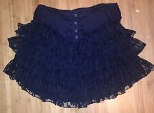 Betsey Johnson black high waisted lace skirt Sz S