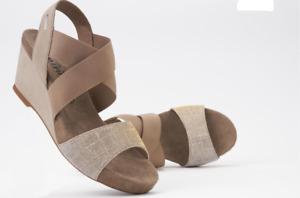 Mephisto Barbara Warm Grey Silver Comfort Wedge Sandal Womens Sizes 35-42 NEW!!!
