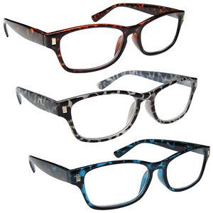 UV Reader Mens Womens Reading Glasses Spring Hinges R10