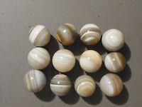 Agate Marble Banded Bullseye Natural Gemstone 28 to 31 MM. Diameter Vintage