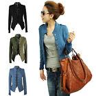 Fashion Women Lady Collar Jacket Long Sleeve Coat Blazer Tops Spring Blouse