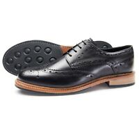 Samuel Windsor Men's Davington Leather Brogue Shoes Smart Lace Up UK Size 5-14