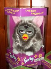 Furby By Tiger Silver/Gray New 1998 Brown Eyes Pink Ears