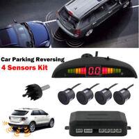 Car Parking Rear Reversing Sensors4Sensors Kit Audio Led Display Buzzer AlaM dm