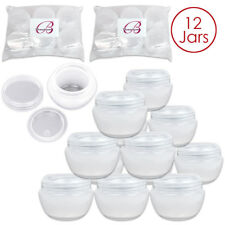 Beauticom® (12 Pieces) 30G/30ML High Quality White Frosted OV Container Jars