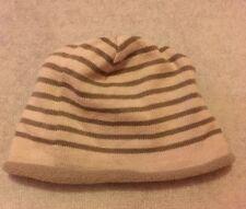 Boys Next Stripe Hat 12-18 Months Beanie Lined Soft Warm